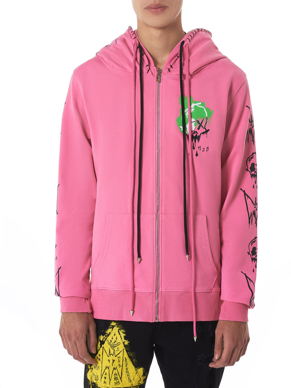 MJB (Marc Jacques Burton) Pink Hoodie - Hlorenzo Front