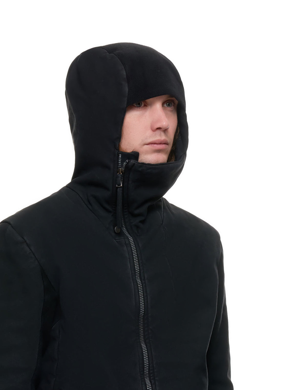 Zip-Up Hoodie Jacket (ZIPPER22-2-FIF10002-BLACK)