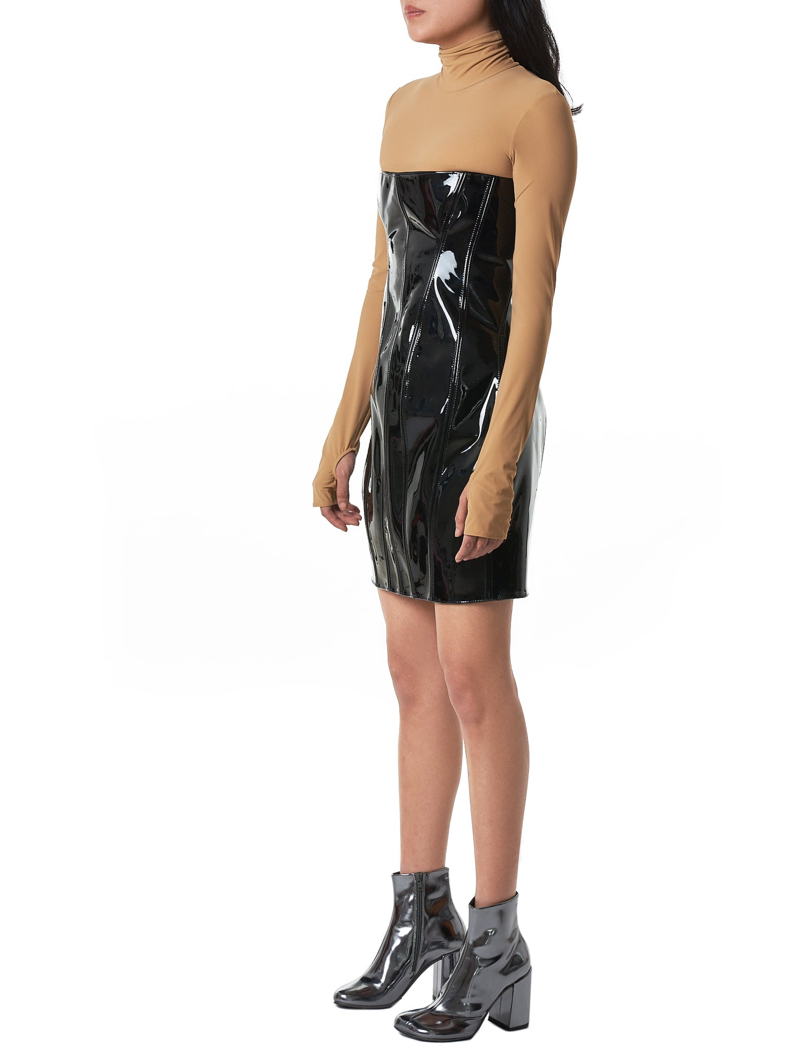Art School Leather Dress - Hlorenzo Side
