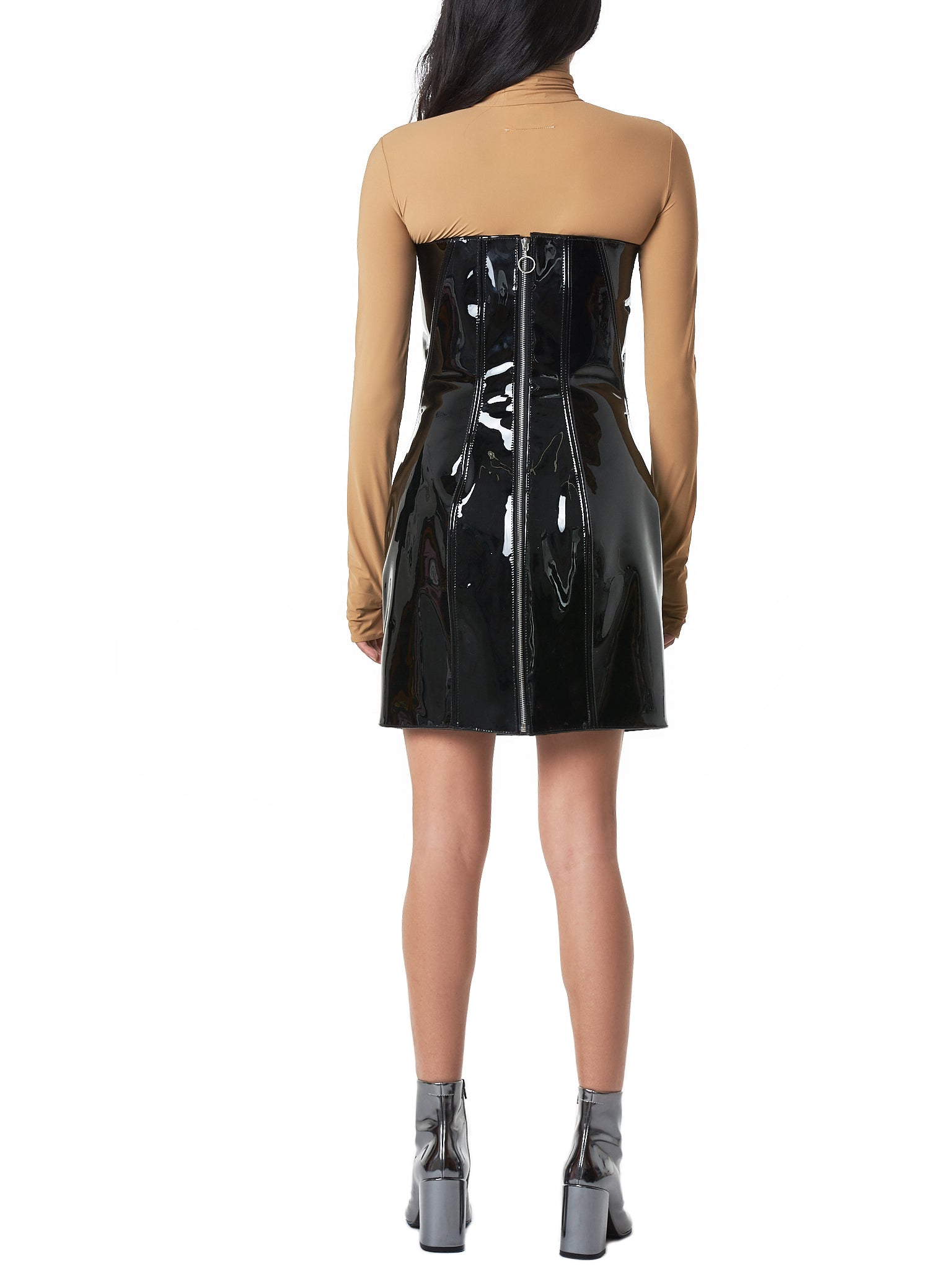 Art School Leather Dress - Hlorenzo back
