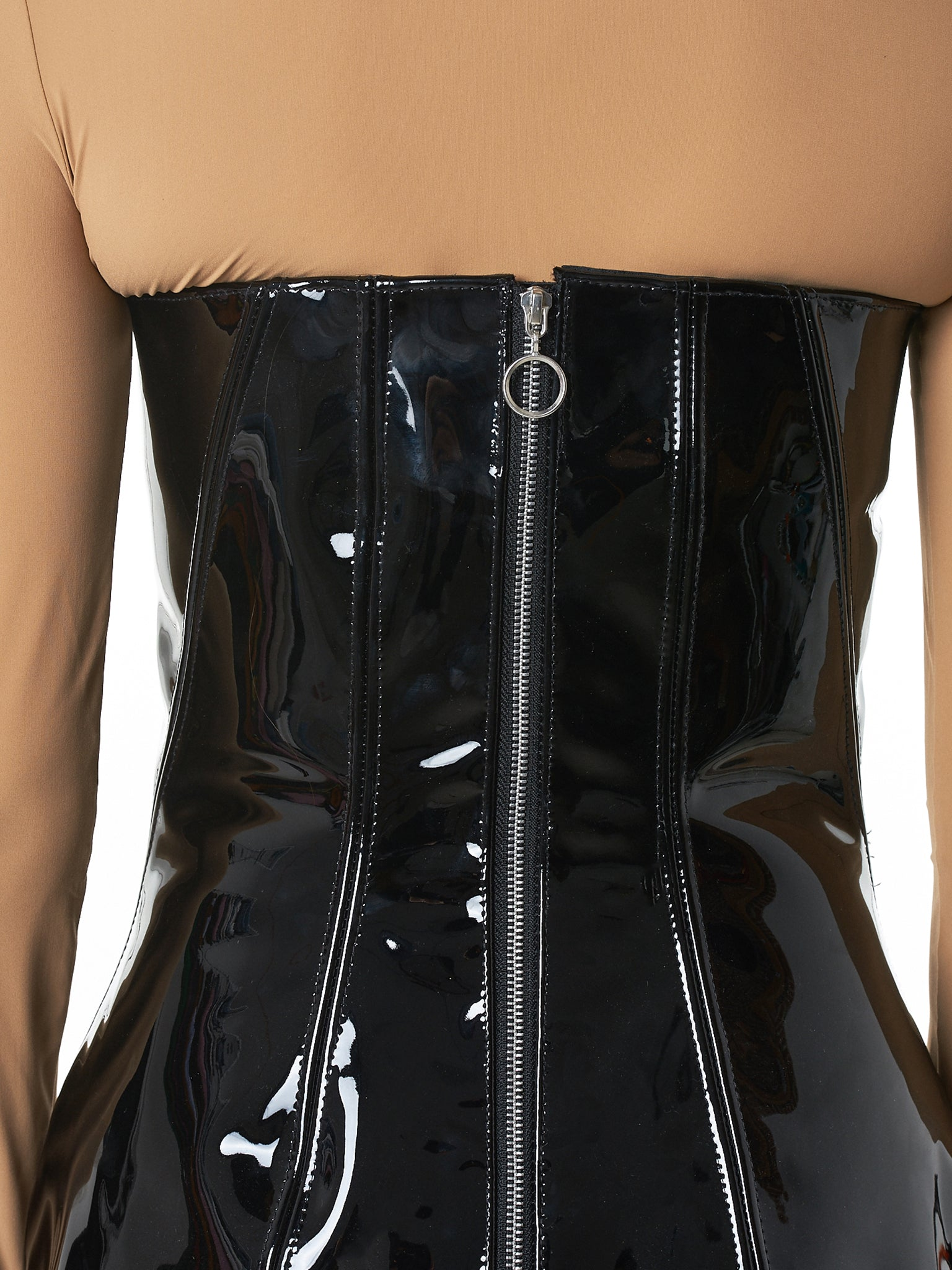 Art School Leather Dress - Hlorenzo detail 2