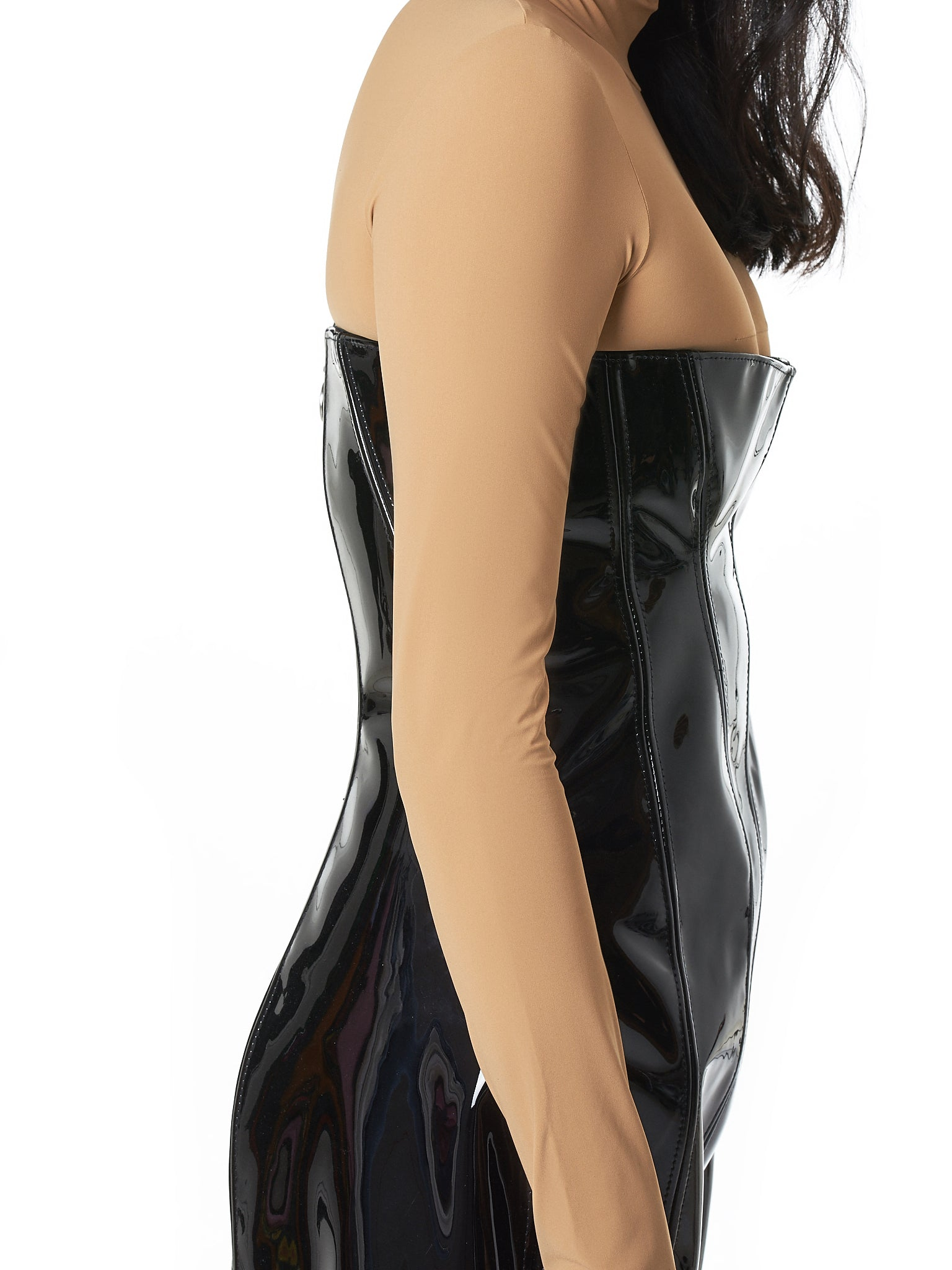 Art School Leather Dress - Hlorenzo detail 1