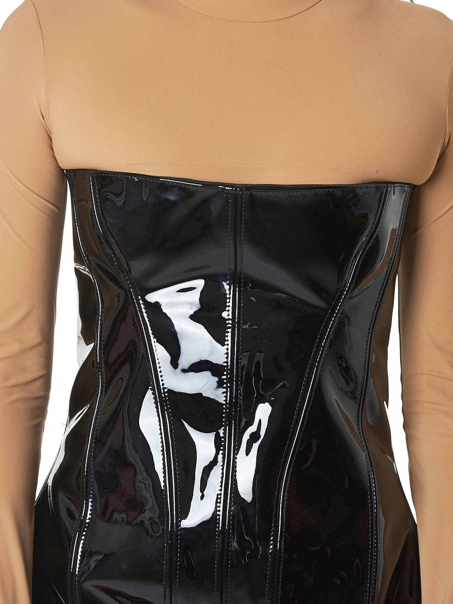 Art School Leather Dress - Hlorenzo detail 3