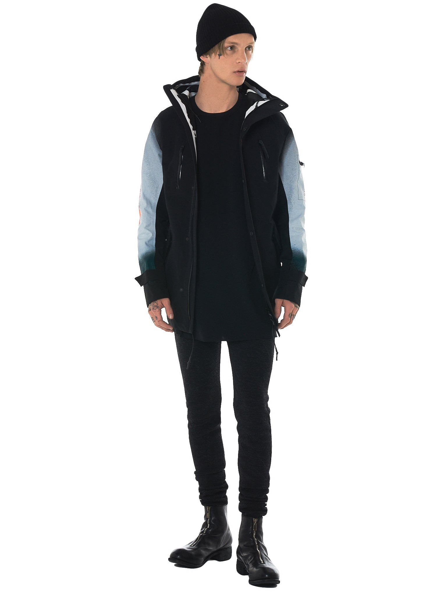 11 By Boris Bidjan Saberi Distortion Hooded Jacket - Hlorenzo Style