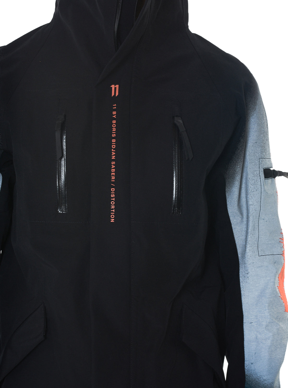 11 By Boris Bidjan Saberi Distortion Hooded Jacket - Hlorenzo Detail 2