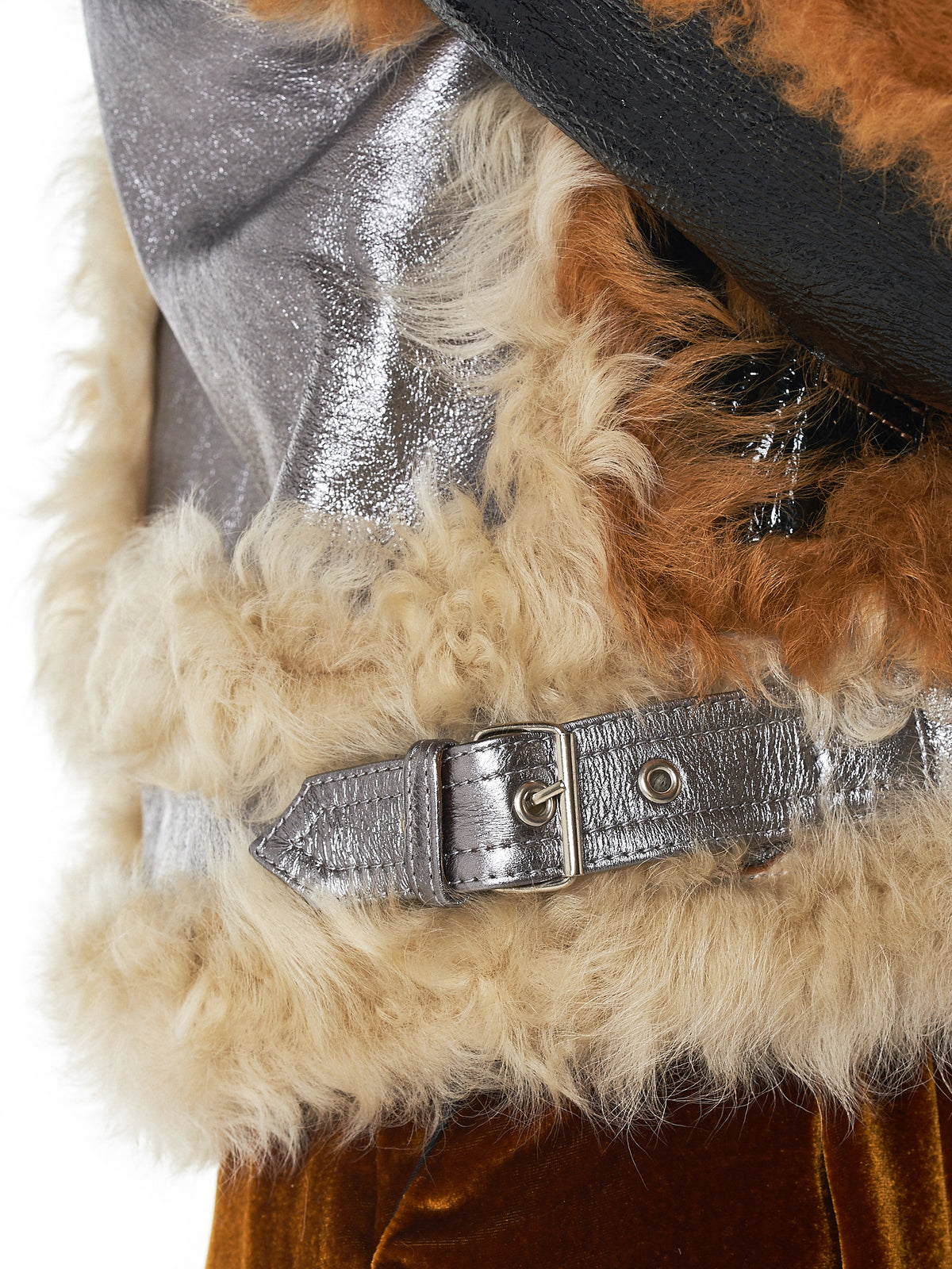 Marques Almeida Shearling Jacket - Hlorenzo Detail 2