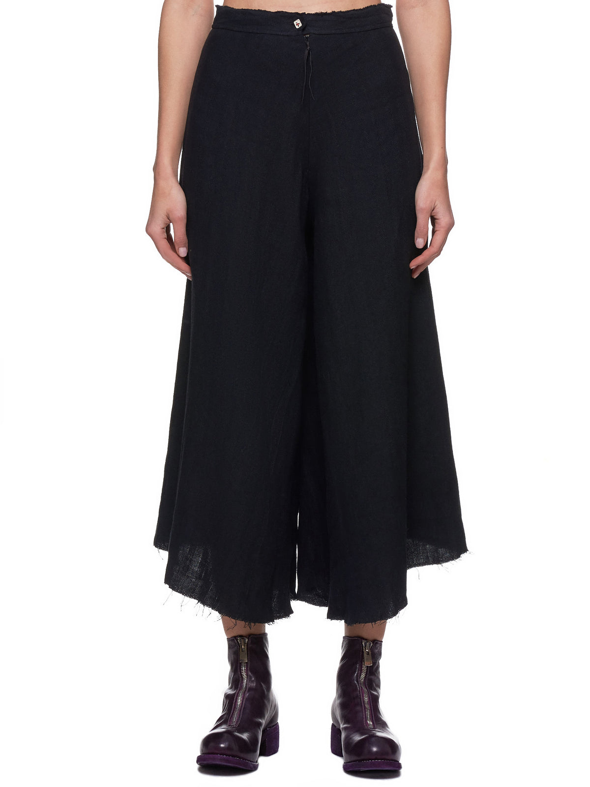 Raw-Hem Trousers (PW480-LHER1-BLACK)