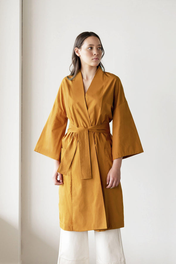 ReCreate Clothing | Chorus Cotton Kimono | Rust Brown | The Colab Store  | Shop Womens | New Zealand