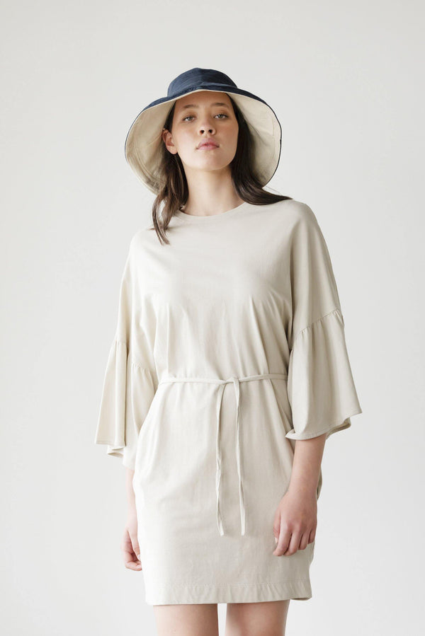 ReCreate Clothing | Sunday Cotton Dress | Sand | The Colab Store  | Shop Womens | New Zealand