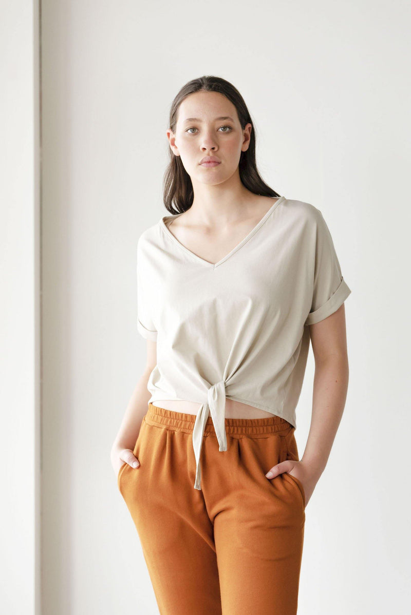 ReCreate Clothing | Nuance Cotton Top | Sand | The Colab Store  | Shop Womens | New Zealand