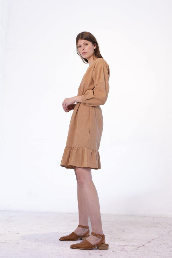 ReCreate Clothing | Prelude Handwoven Dress | Nutmeg | The Colab Store  | Shop Womens | New Zealand