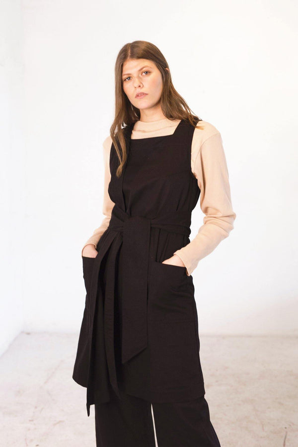 ReCreate Clothing | Assembly Cotton Dress | Black | The Colab Store  | Shop Womens | New Zealand