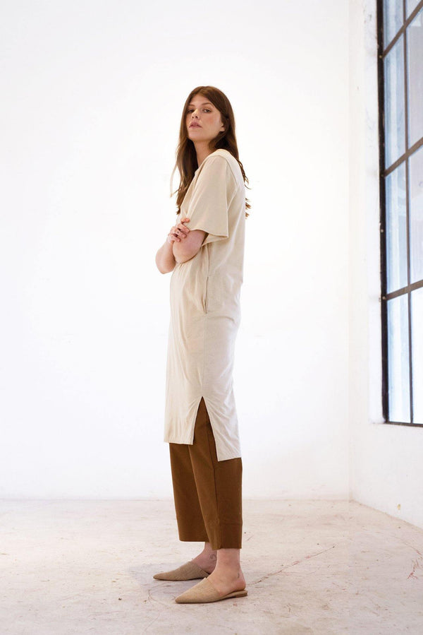 ReCreate Clothing | Form Tee Cotton Dress | Sand | The Colab Store  | Shop Womens | New Zealand