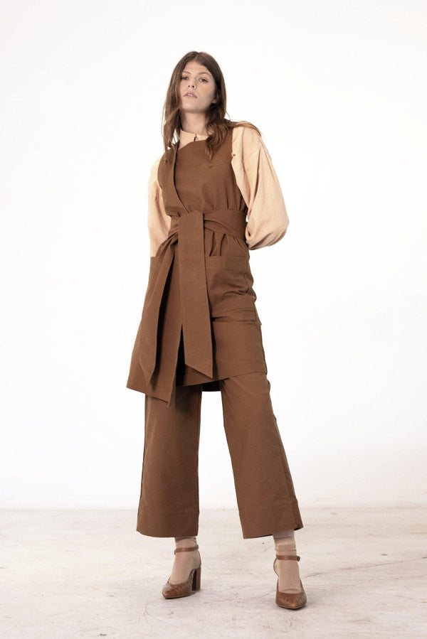 ReCreate Clothing | Assembly Cotton Dress | Walnut Brown | The Colab Store  | Shop Womens | New Zealand