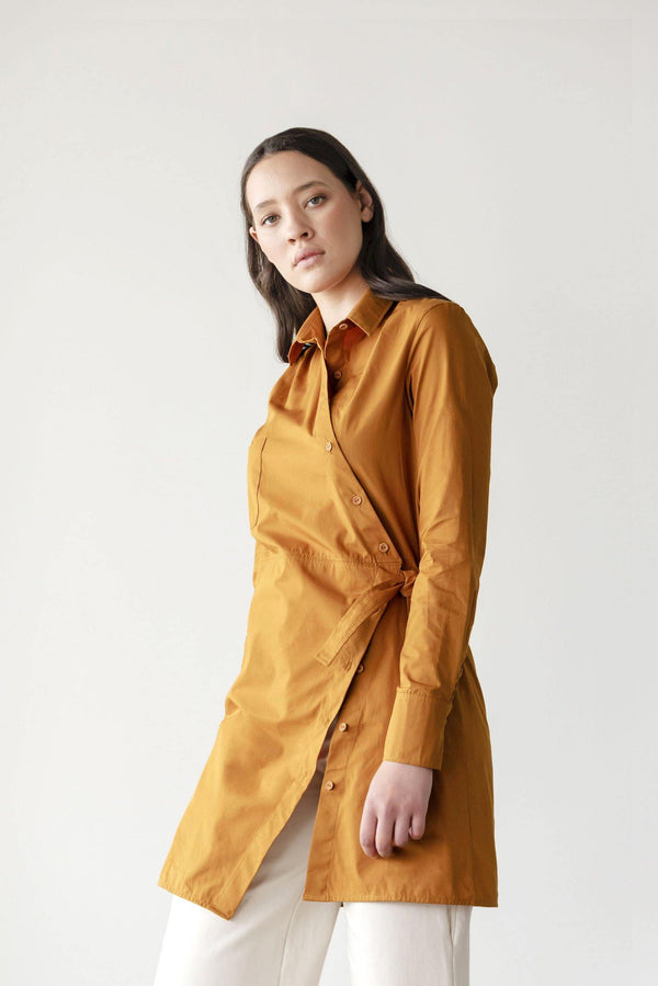 ReCreate Clothing | Juncture Cotton Shirt Dress | Rust Brown | The Colab Store  | Shop Womens | New Zealand