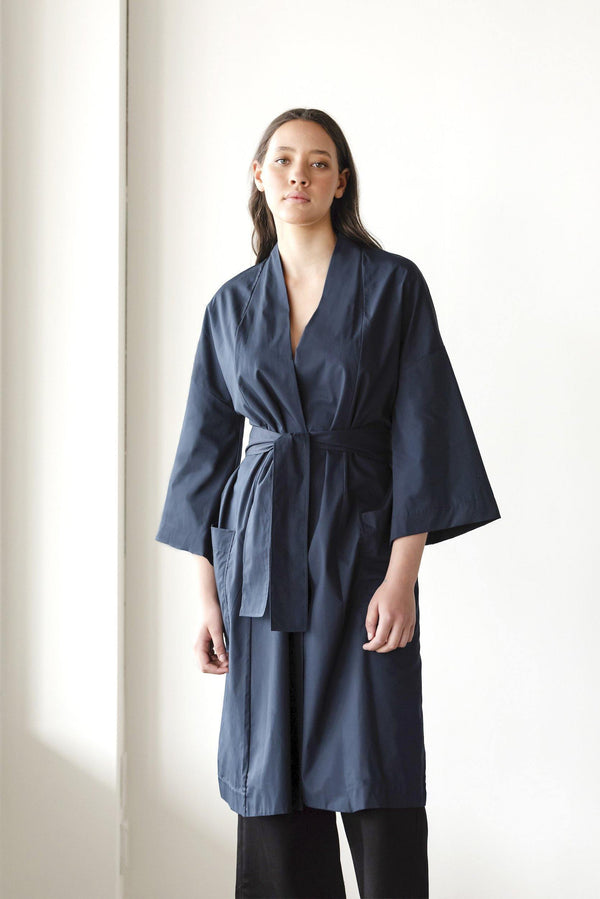 ReCreate Clothing | Chorus Cotton Kimono | Ink Blue | The Colab Store  | Shop Womens | New Zealand