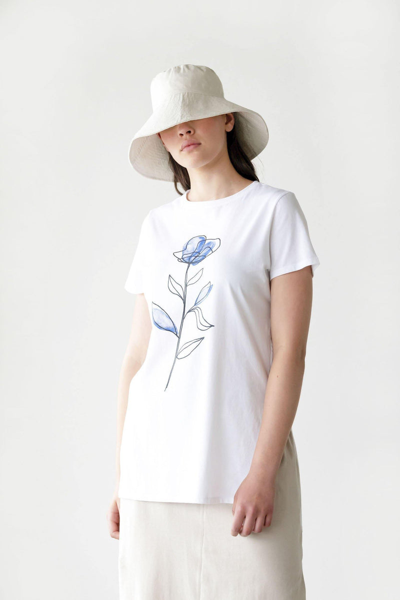 ReCreate Clothing | Seasons Print Cotton Tee | White | The Colab Store  | Shop Womens | New Zealand