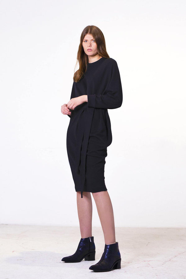 ReCreate Clothing | Unbound Sweater Cotton Dress | Black | The Colab Store  | Shop Womens | New Zealand