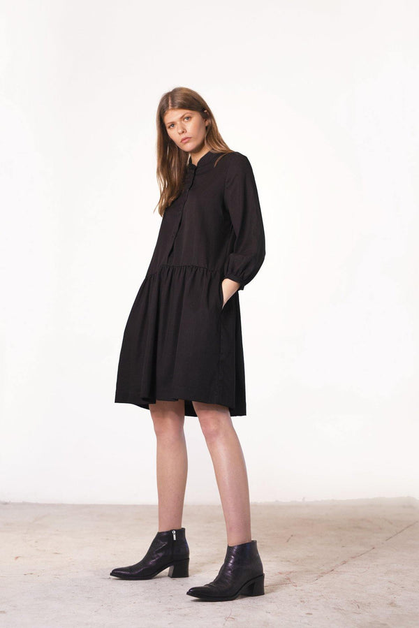 ReCreate Clothing | Industry Cotton Denim Dress | Black | The Colab Store  | Shop Womens | New Zealand