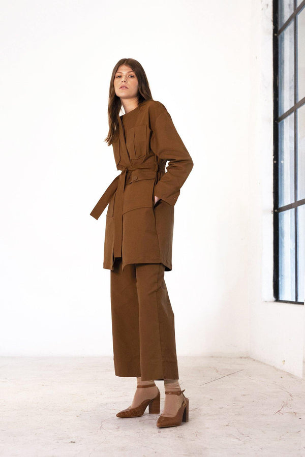 ReCreate Clothing | Pioneer Cotton Jacket | Walnut Brown | The Colab Store  | Shop Womens | New Zealand