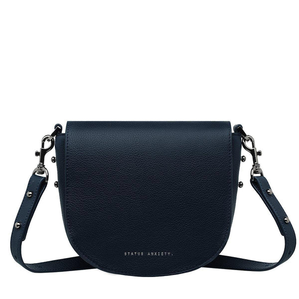 PREORDER Status Anxiety | Art Of Pretending Leather Bag | Navy Blue | The Colab Store  | Shop Womens | New Zealand