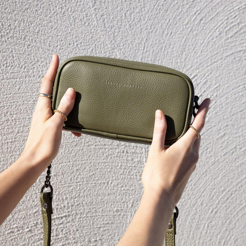 PREORDER Status Anxiety | New Normal Leather Bag | Khaki Green | The Colab Store  | Shop Womens | New Zealand