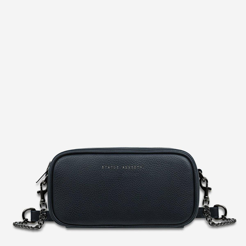 PREORDER Status Anxiety | New Normal Leather Bag | Navy Blue | The Colab Store  | Shop Womens | New Zealand