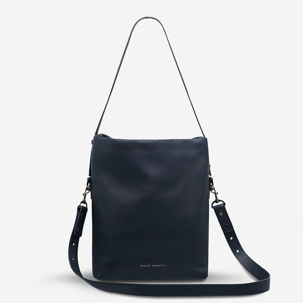 PREORDER Status Anxiety | Ready & Willing Leather Bag | Navy Blue | The Colab Store  | Shop Womens | New Zealand