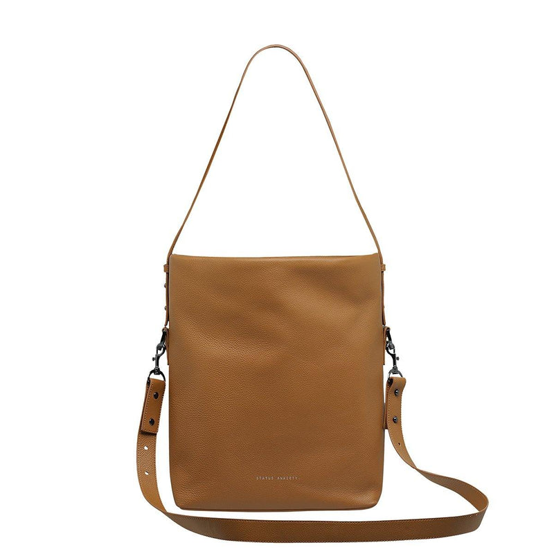 PREORDER Status Anxiety | Ready & Willing Leather Bag | Tan | The Colab Store  | Shop Womens | New Zealand