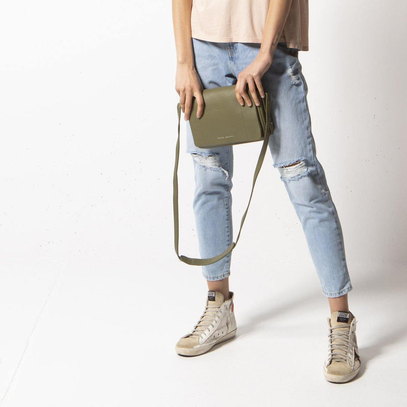 PREORDER Status Anxiety | Succumb Leather Bag | Khaki Green | The Colab Store  | Shop Womens | New Zealand