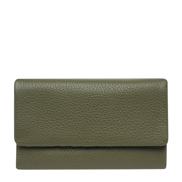 PREORDER Status Anxiety | Audrey Leather Wallet | Khaki Green | The Colab Store  | Shop Womens | New Zealand