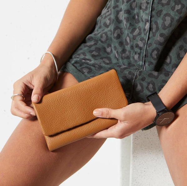 PREORDER Status Anxiety | Audrey Leather Wallet | Tan | The Colab Store  | Shop Womens | New Zealand