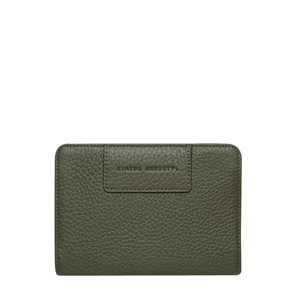 PREORDER Status Anxiety | Popular Problems Leather Wallet | Khaki Green | The Colab Store  | Shop Womens | New Zealand