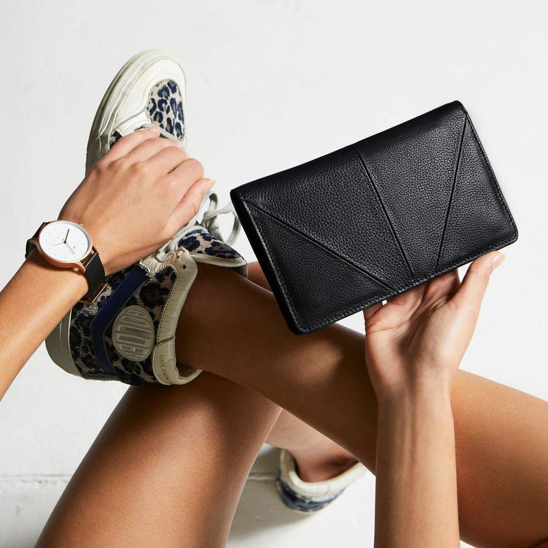 PREORDER Status Anxiety | Triple Threat Leather Wallet | Black | The Colab Store  | Shop Womens | New Zealand