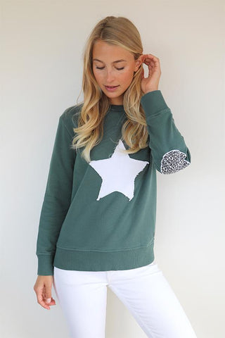 LEOPARD STAR COTTON SWEATER