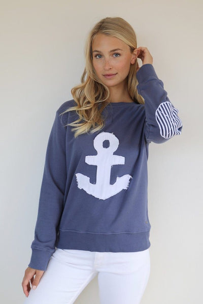 FRAYED ANCHOR SWEATER