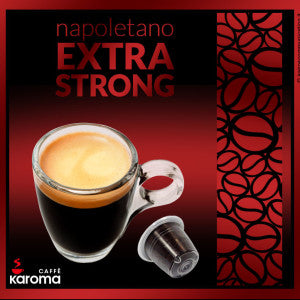 50 Caffe Karoma Napoletano Extra Strong Nespresso* Compatible Capsules Intensity 10
