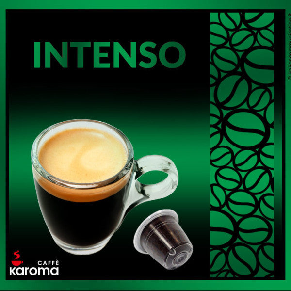 50 Caffe Karoma Intenso Blend Nespresso* Compatible Capsules Intensity 9