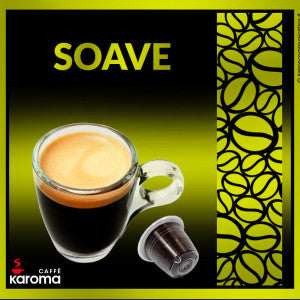 50 Caffe Karoma Soave Blend Nespresso* Compatible Capsule. Intensity 8