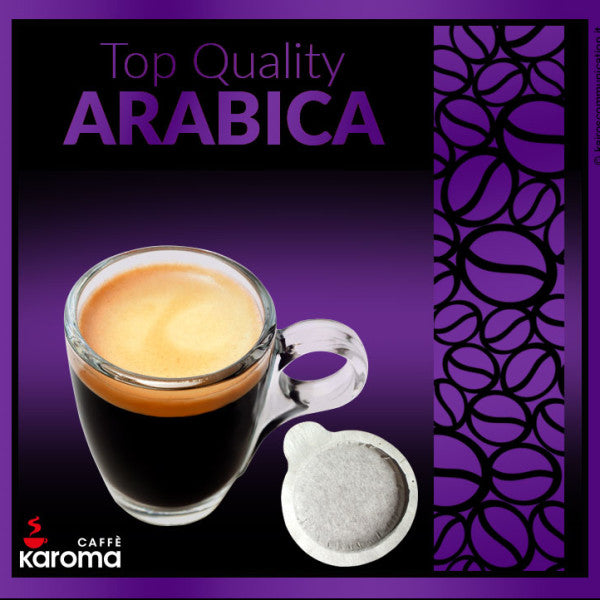 50 Caffe Karoma Top Quality Arabica ESE 44mm Paper Pods Intensity 8