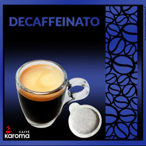 50 Caffe' Karoma Decaffeinated  ESE 44mm Paper Pods