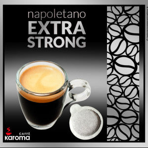 50 Caffe Karoma Napoletano Extra Strong ESE 44mm Paper Pods Intensity 10