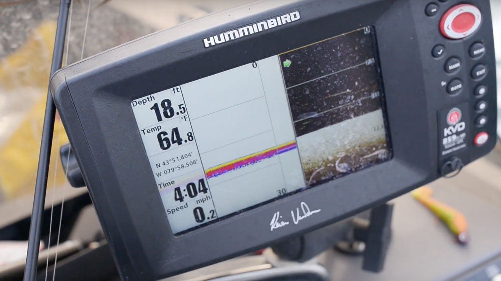 walleye spots on fish finder and sonar