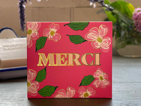 Message on soap-Rose MERCI