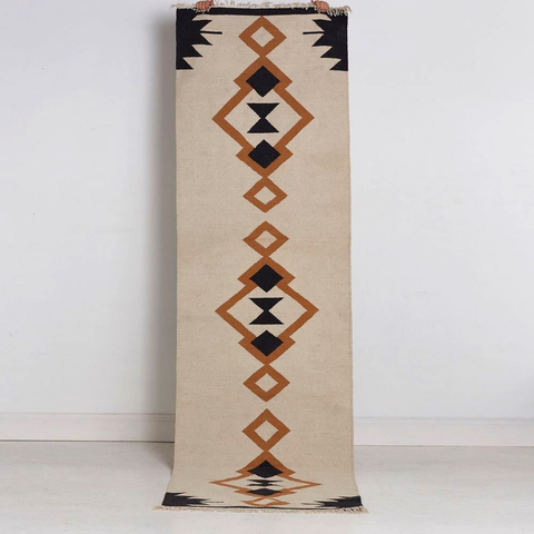 Tribal Echo Cotton - Floor Runner