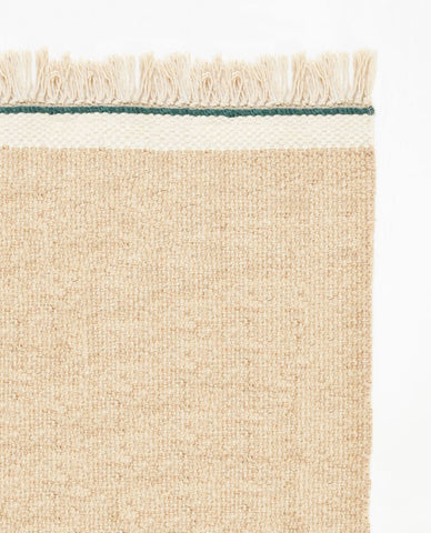 Pastello Handwoven wool runner- Beach sand 80x250