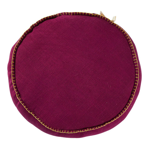 Rylie Round Cushion- Grape