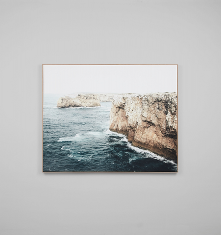 Cliff View Framed Canvas