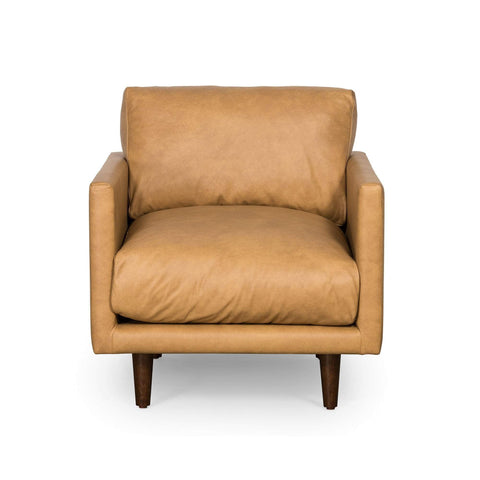 Carson Armchair  in Tan Leather