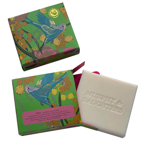 Rectangular boxed soap-Lime
